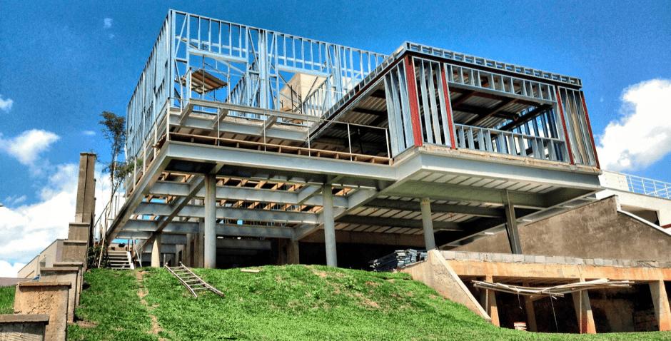steel frame obra sustentavel - Plack
